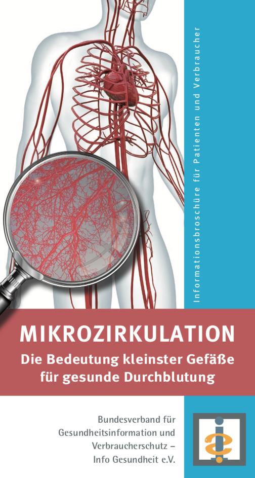 """Cover der Broschüre """"Mikrozirkulation"""" des BGV"""