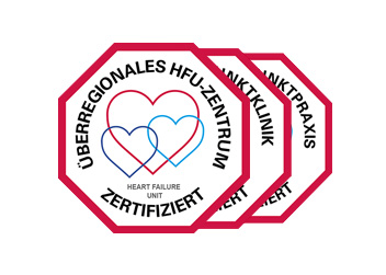 Zertifikat für überregionale Herzinsuffizienz-Zentren vom DGK