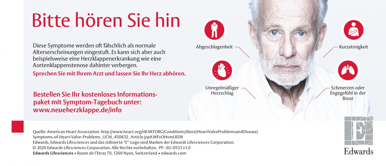 Anzeige Herzklappenerkrankung
