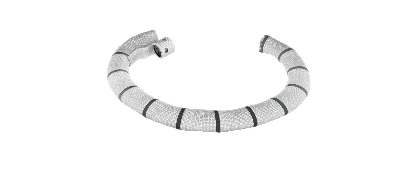 Abbildung vom Cardioband, welches an der Mitralklappe eingesetzt wird